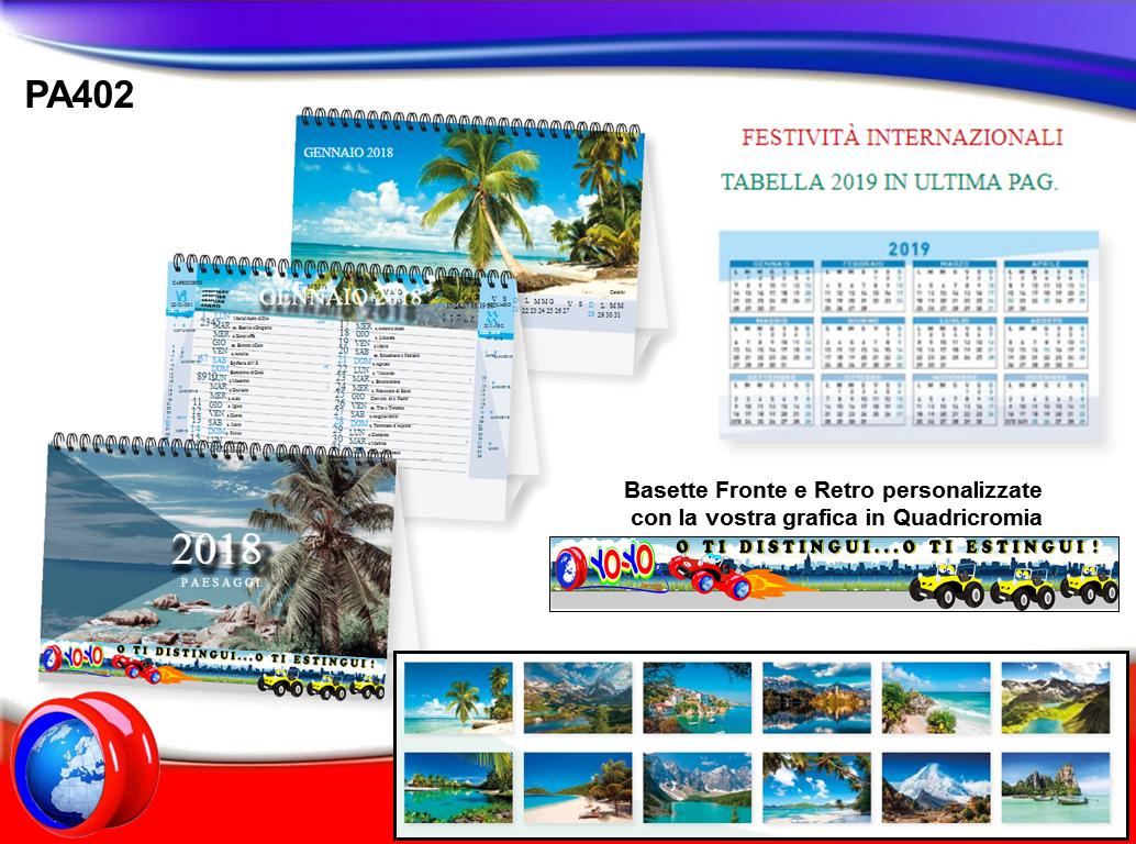 Calendario Con Foto Personali.Pa402 Calendario Spiralato Da Tavolo Paesaggi